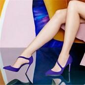 shoes,pumps,purple,stilleto heels,pointed toe