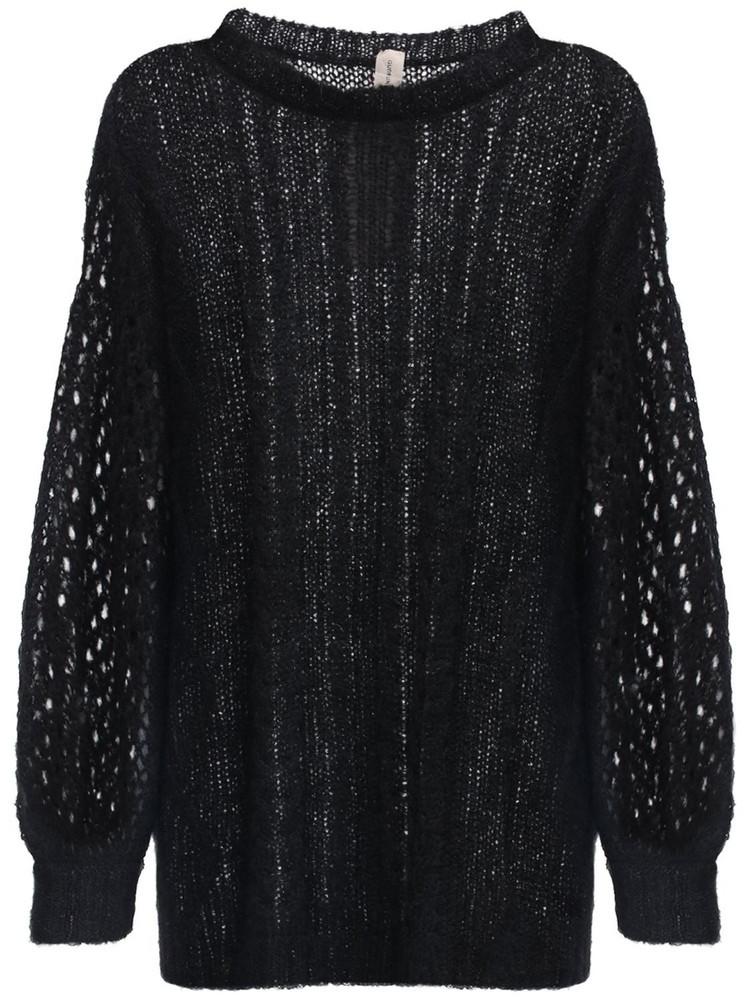 GUDRUN & GUDRUN Aphrodite Alpaca Blend Knit Sweater in black