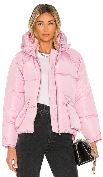 Toast Society Pluto Puffer Jacket in Pink in lilac