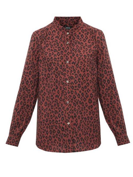 A.P.C. A.p.c. - Alice Leopard Print Voile Shirt - Womens - Leopard