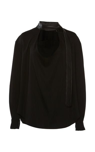 Christopher Esber Belted Collar Blouse in black