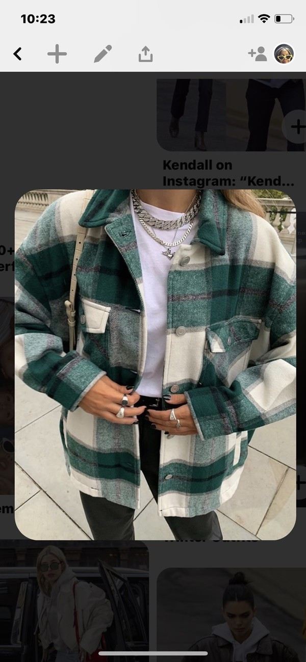 coat green white stripes geruit gestreift plaid faux fur