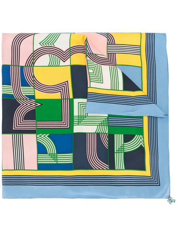Tory Burch graphic abstract print scarf