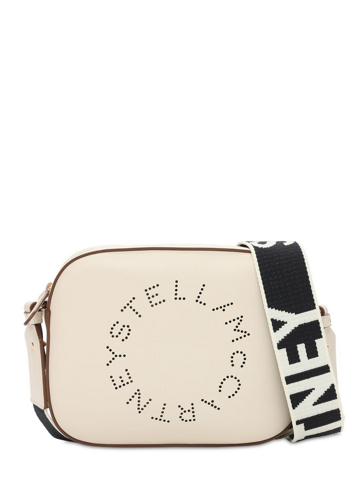 STELLA MCCARTNEY Soft Faux Leather Camera Bag in white
