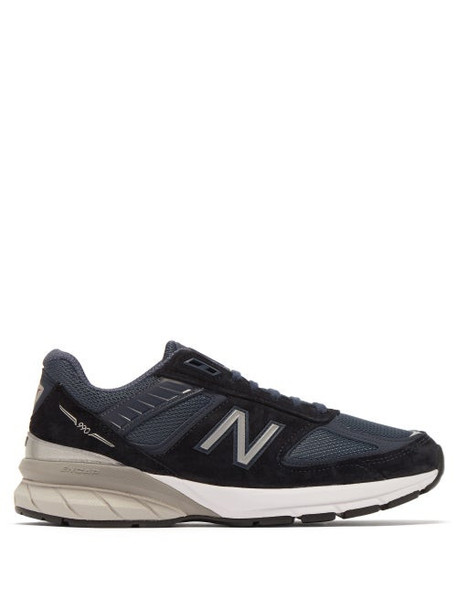 New Balance - 990v5 Suede And Mesh Trainers - Womens - Navy
