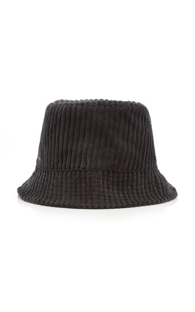 Isabel Marant Haley Logo-Embroidered Corduroy Bucket Hat in grey
