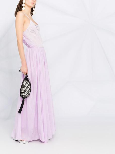 Forte Forte crochet-knit maxi dress in pink