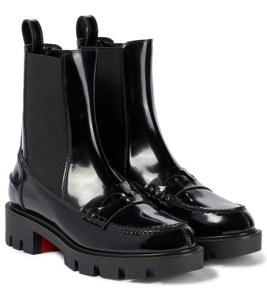 Christian Louboutin Montezu leather ankle boots in black