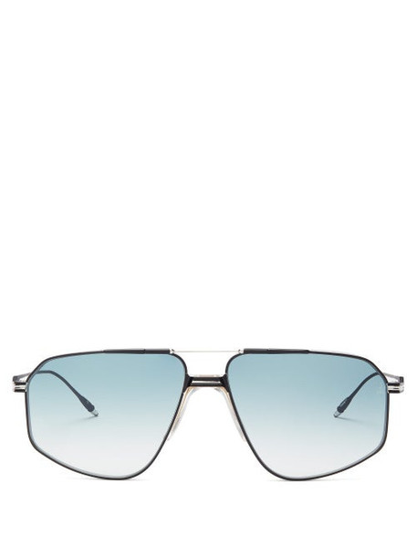 Jacques Marie Mage - Jagger Aviator Titanium Sunglasses - Womens - Blue Silver