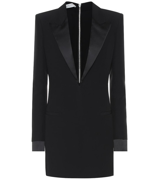 Philosophy Di Lorenzo Serafini Crêpe blazer minidress in black