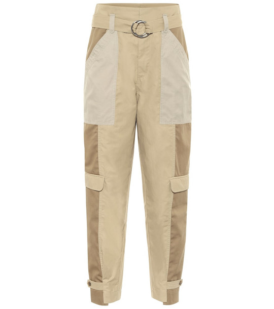 Frame Cotton-blend cargo pants in brown