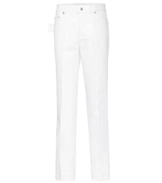Bottega Veneta High-rise straight jeans in white