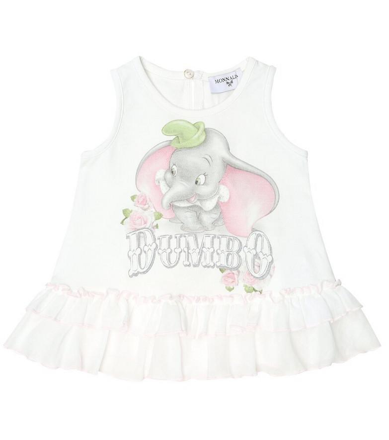 Monnalisa Baby x Disney® stretch-cotton top in white