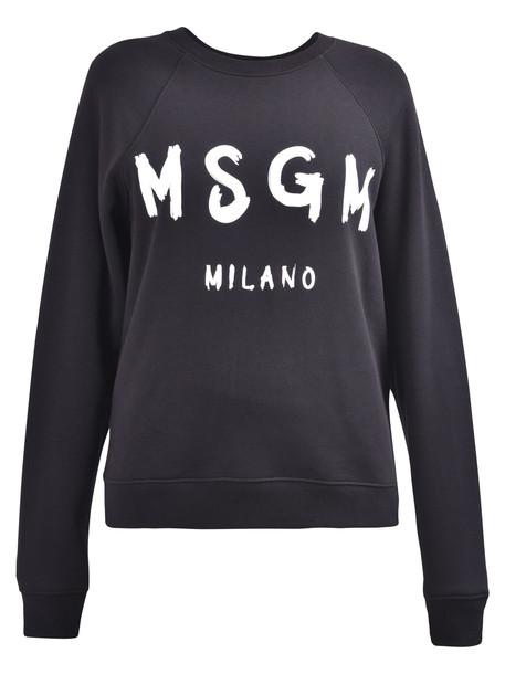 MSGM Branded Sweatshirt in black