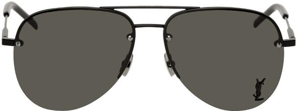 Saint Laurent Black Classic SL 11 Aviator Sunglasses