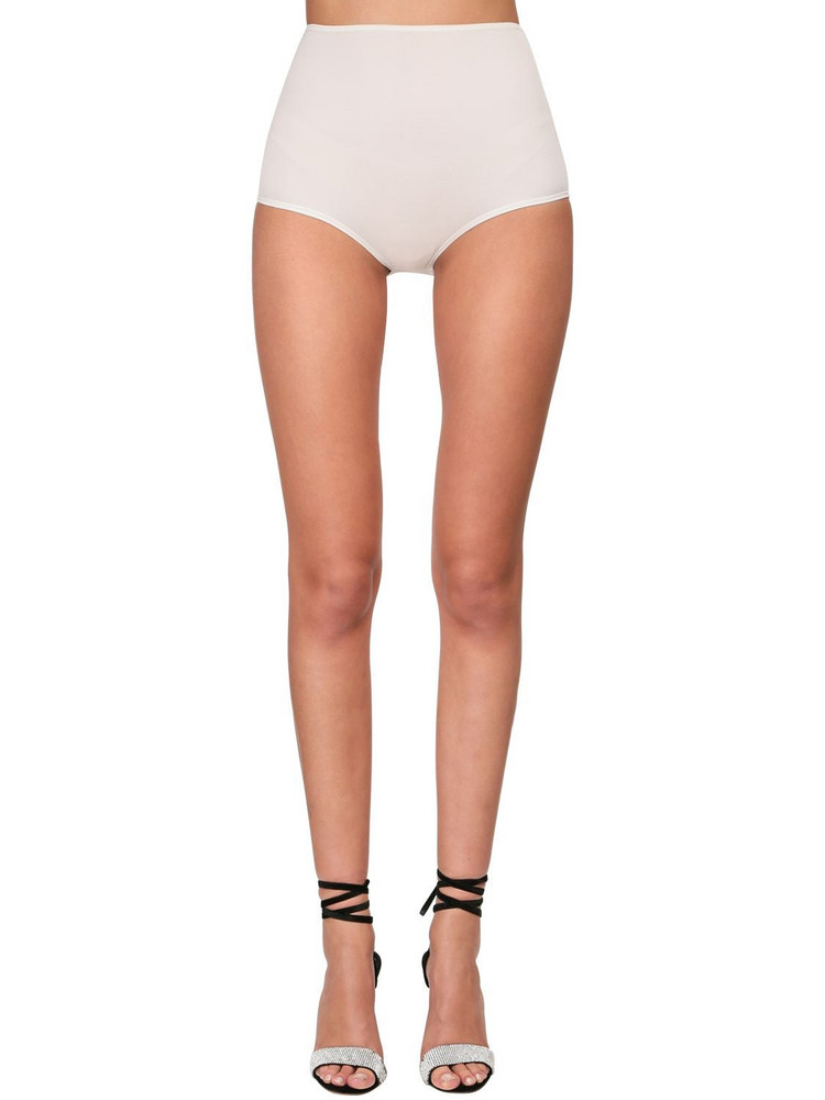 ALEXANDRE VAUTHIER High Waist Stretch Jersey Shorts in white