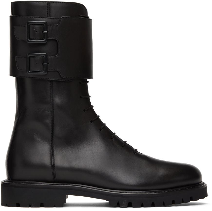 Legres Military Combat Boots in black