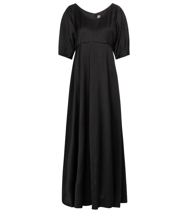 Toteme Empire-waist maxi dress in black