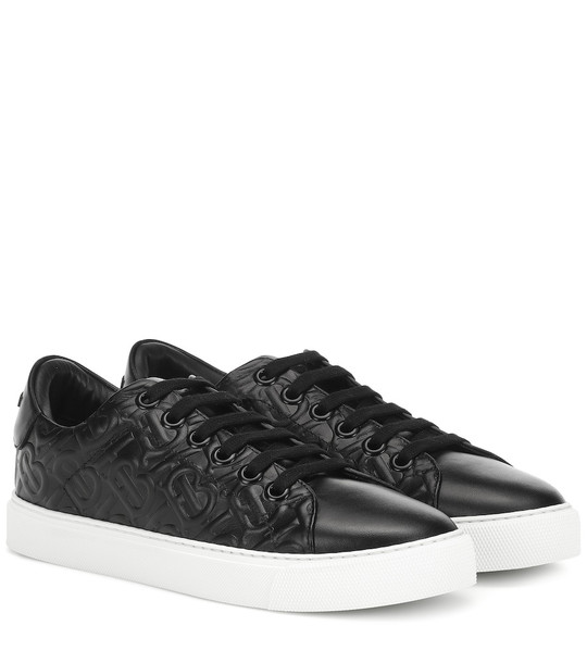 Burberry Leather sneakers in black
