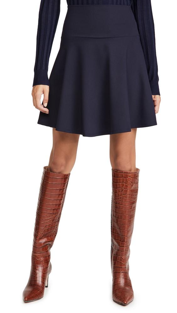 Susana Monaco High Waisted Flare Skirt in midnight