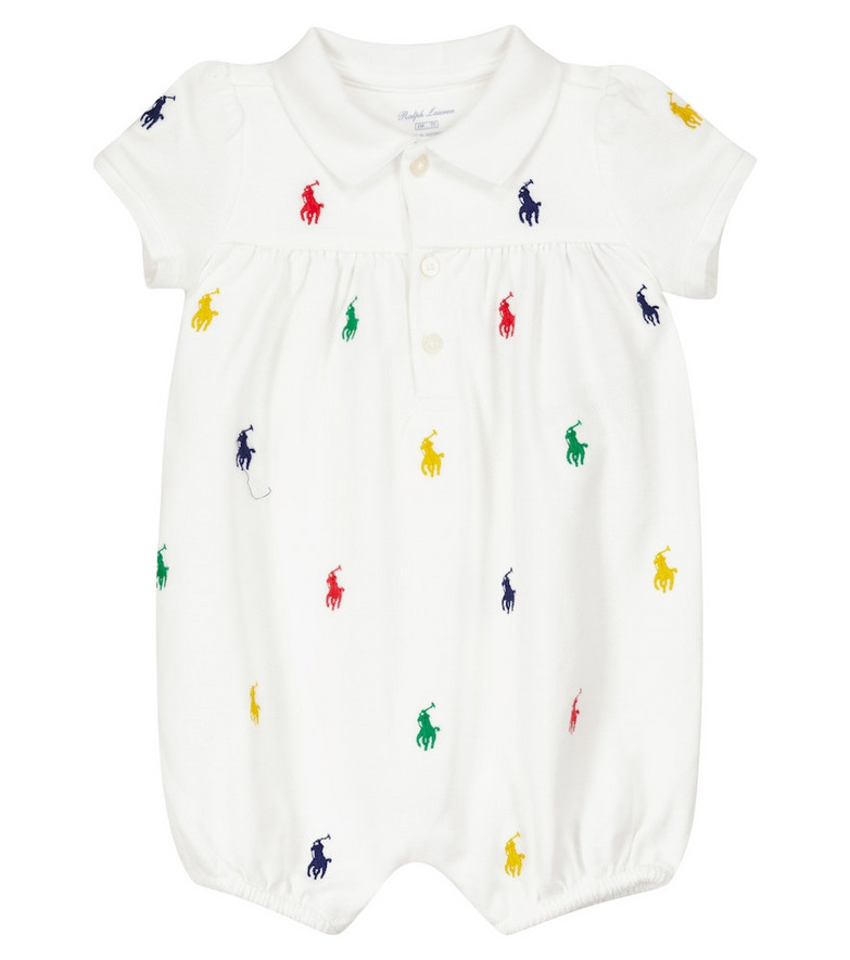 Polo Ralph Lauren Kids Embroidered cotton dress in white