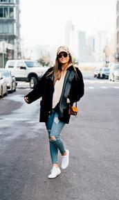 to be bright,blogger,coat,sweater,shoes,bag,sunglasses,hat