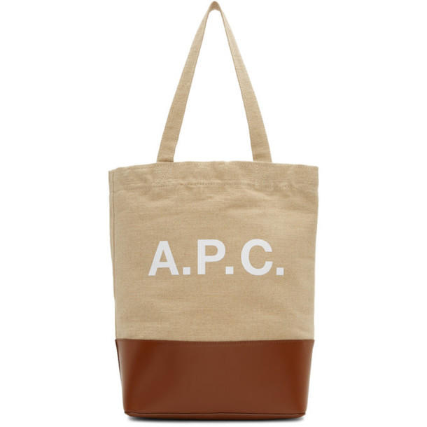 A.P.C. A.P.C. Brown & Beige Axel Tote