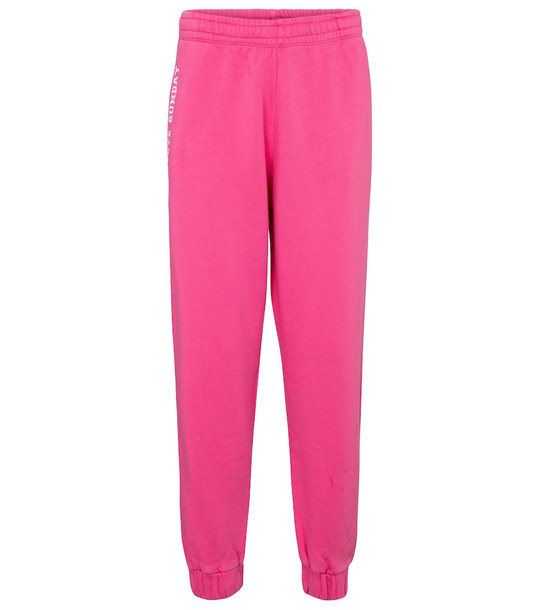 ROTATE BIRGER CHRISTENSEN Mimi logo cotton jersey sweatpants in pink