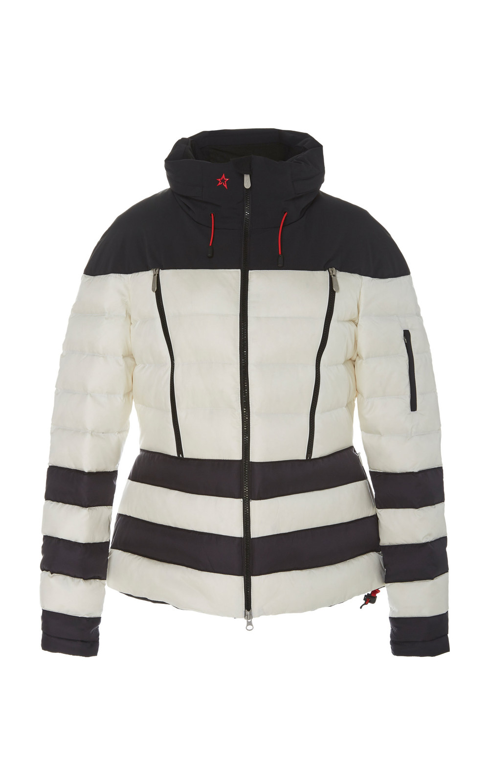 Perfect Moment Polar Drawstring Quilted-Shell Down Jacket in black
