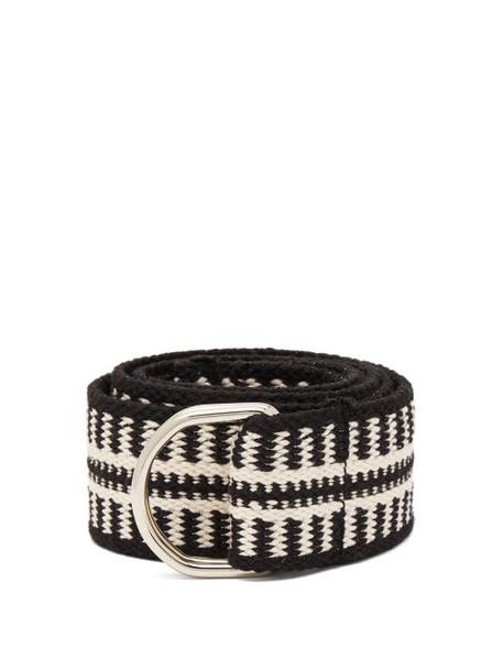 Isabel Marant - Nyess Woven Cotton Blend Belt - Womens - Black