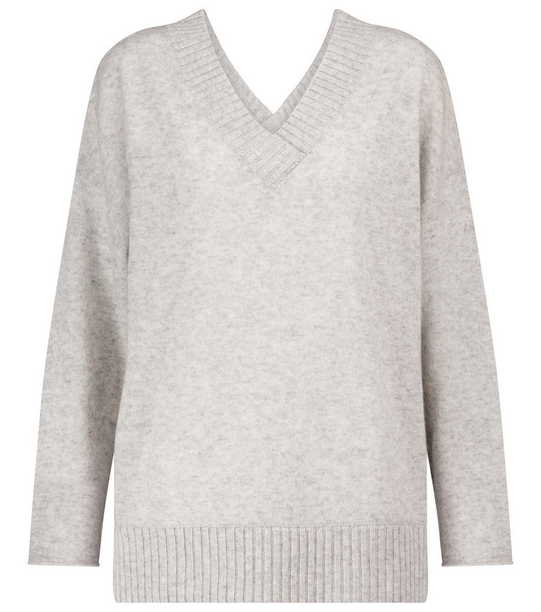 Jardin des Orangers Wool and cashmere sweater in grey