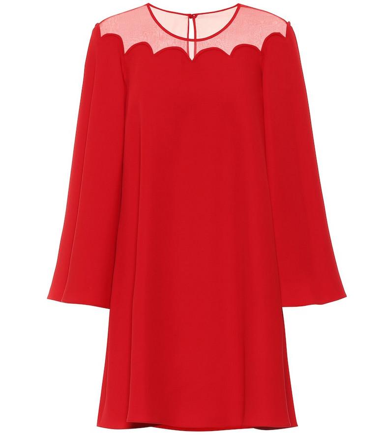 Valentino Silk-crêpe dress in red