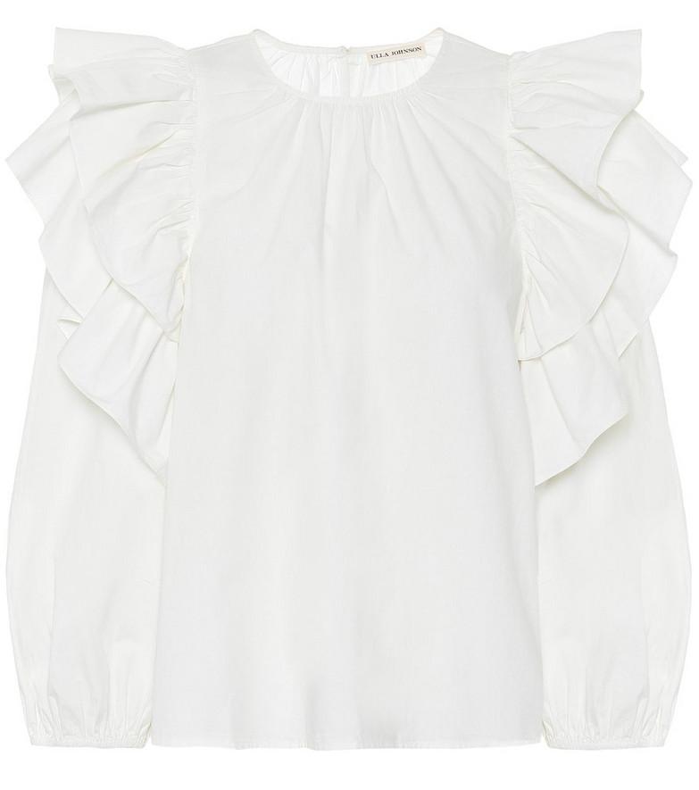 Ulla Johnson Caasi cotton-poplin blouse in white