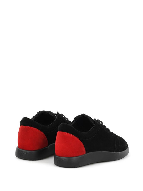 Giuseppe Zanotti Cory colour-block suede trainers in black