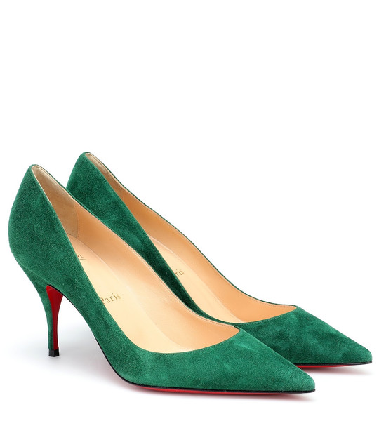 Christian Louboutin Clare 80 suede pumps in green