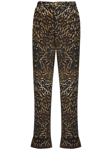 F.R.S. FOR RESTLESS SLEEPERS Leopard Print Silk Crepe Pants