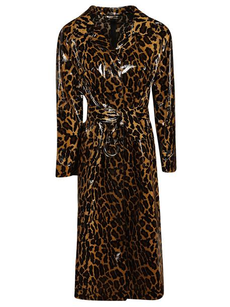 Miu Miu Leopard Print Trench