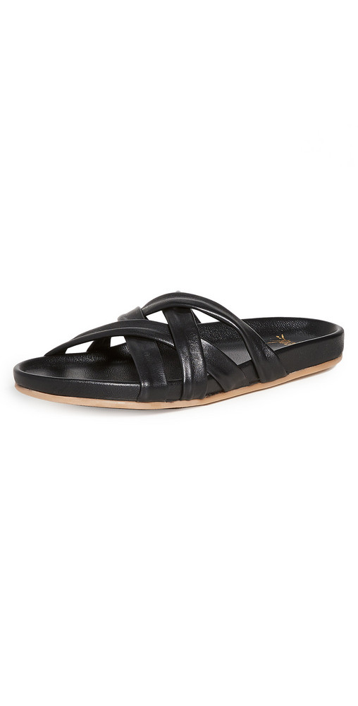 beek Mandarin Sandals in black
