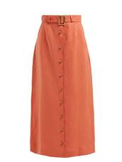 skirt,maxi skirt,maxi,orange
