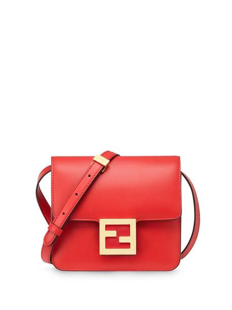 Fendi Fab logo shoulder bag in red