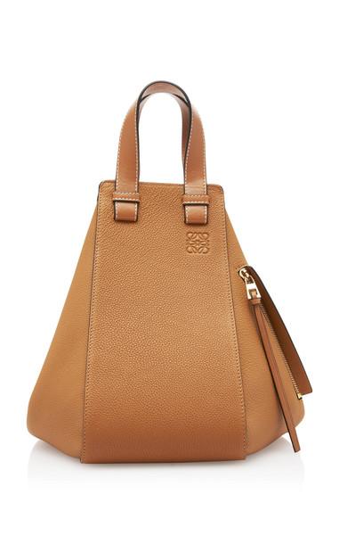 Loewe Hammock Medium Leather Shoulder Bag in brown