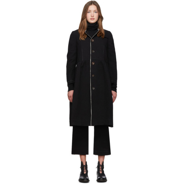 Renli Su Black Cotton Coat