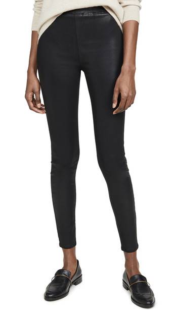 L'AGENCE Rochelle Coated Pull On Pants in black
