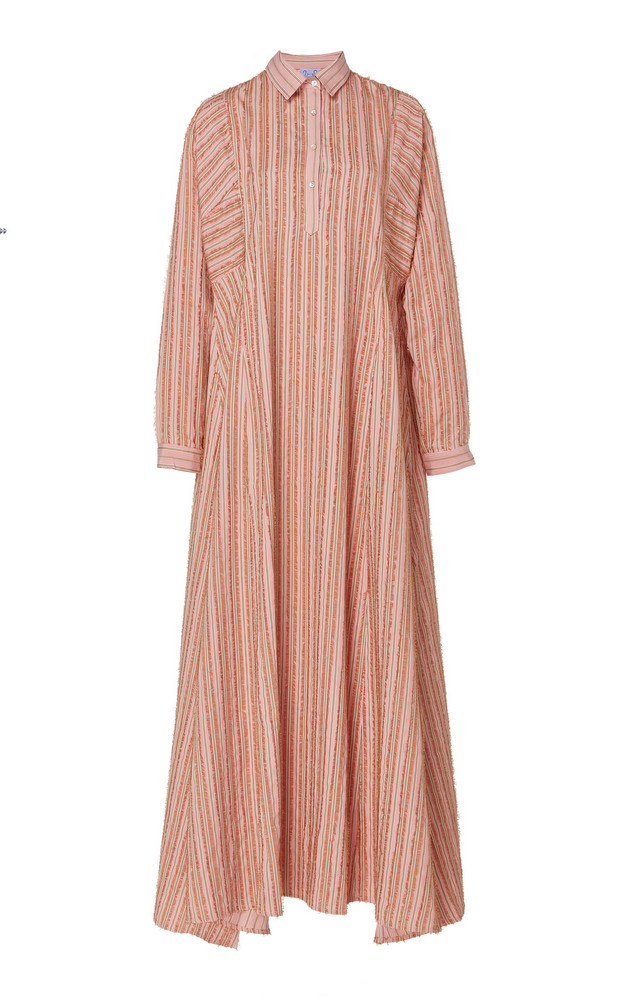 Thierry Colson Tiziana Striped Maxi Dress in pink