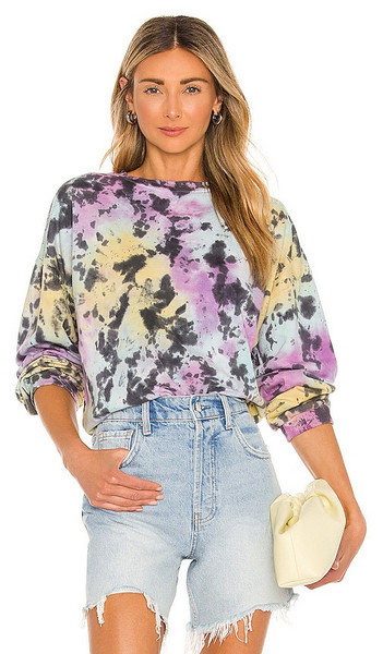 Lovers + Friends Lovers + Friends Bradley Sweatshirt in Purple in black / multi