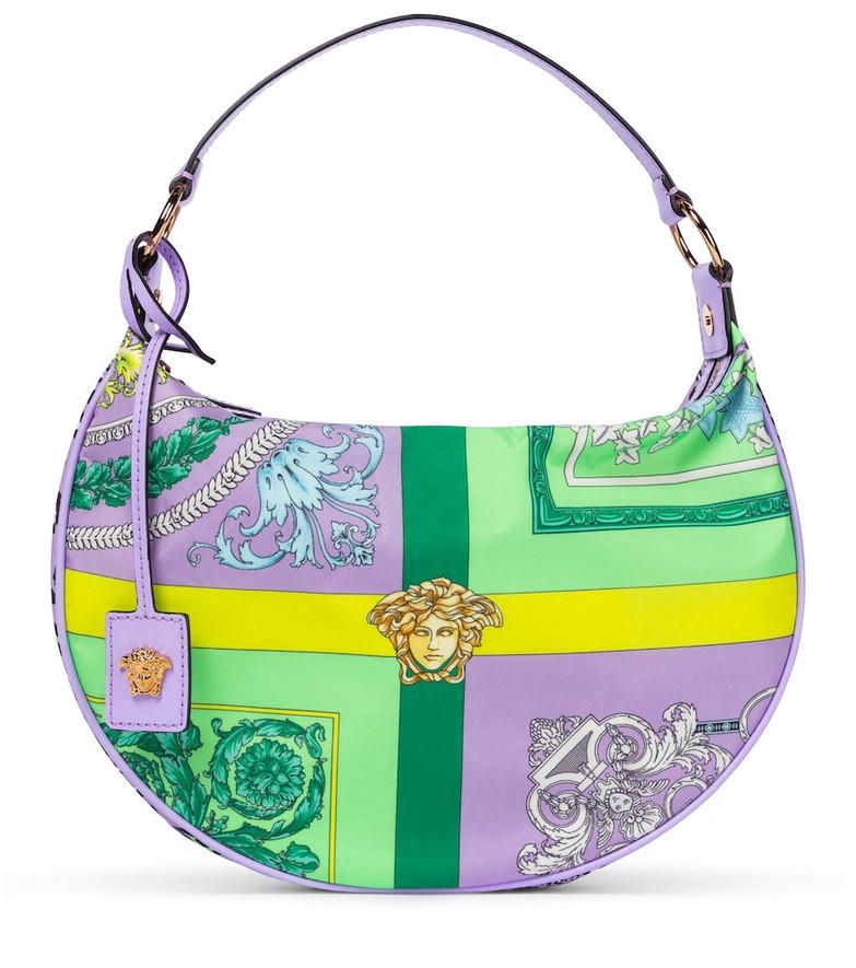 Versace Barocco Mosaic shoulder bag in purple