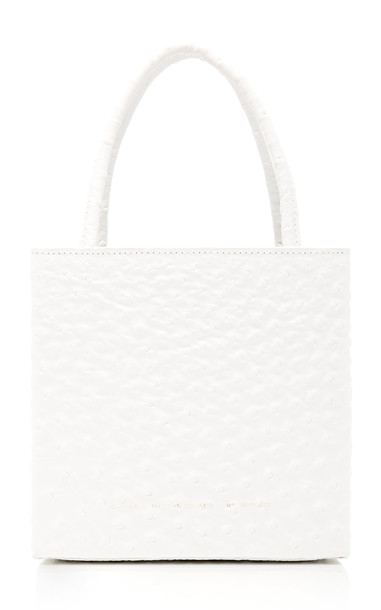 Chylak Textured-Leather Tote in white