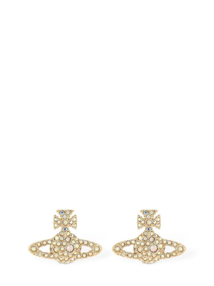 VIVIENNE WESTWOOD Grace Bas Relief Stud Earrings in gold