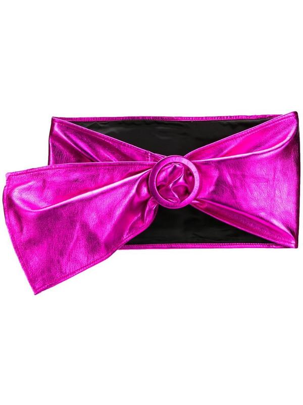 The Attico metallic waist belt in pink