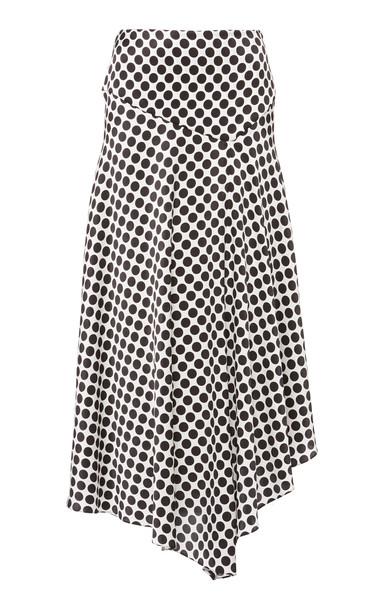Alexandre Vauthier Polka Dot Silk-Blend Midi Skirt in print